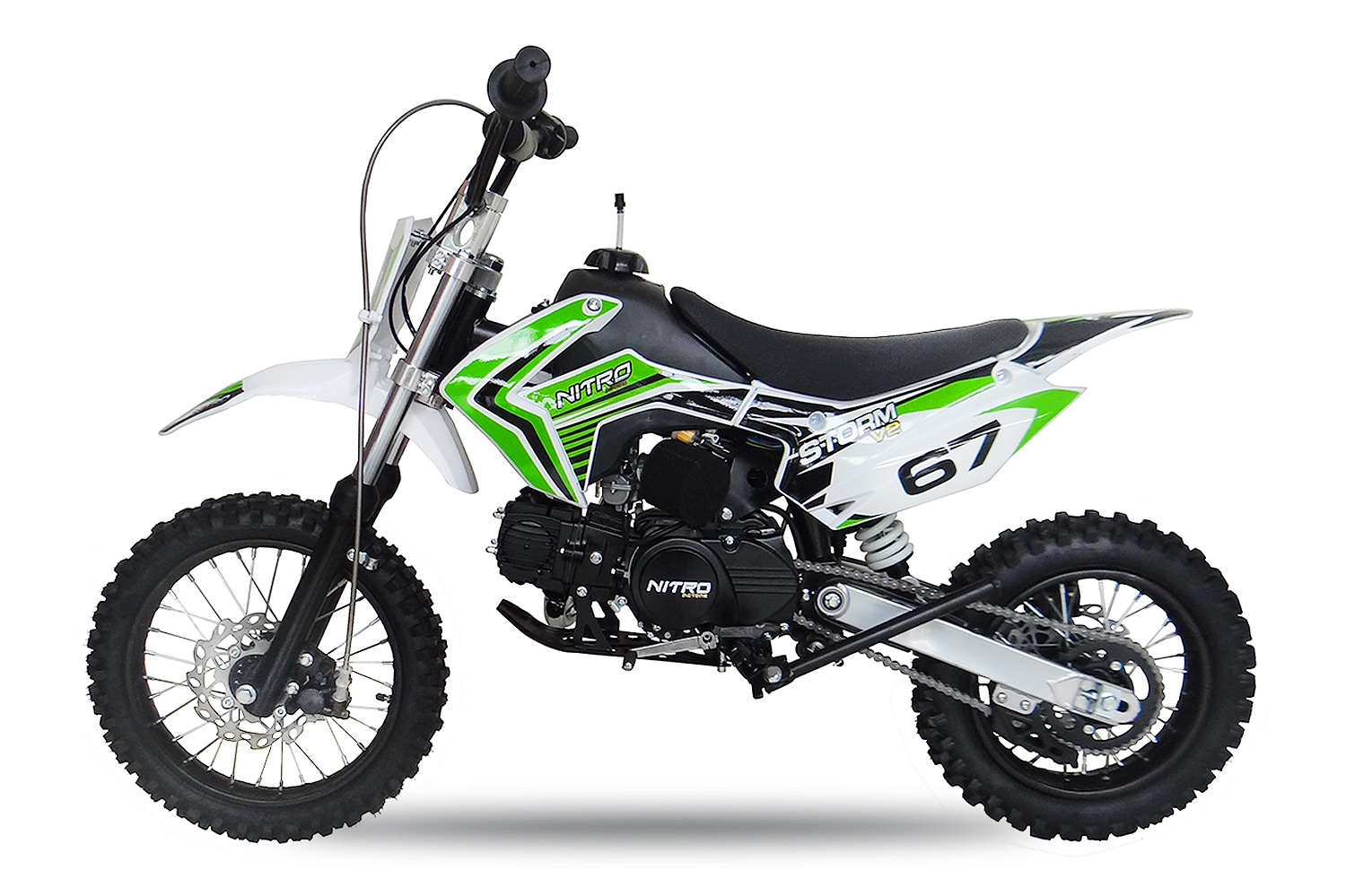 110cc dirtbike storm 14 12 automatic e start with new design. Black Bedroom Furniture Sets. Home Design Ideas
