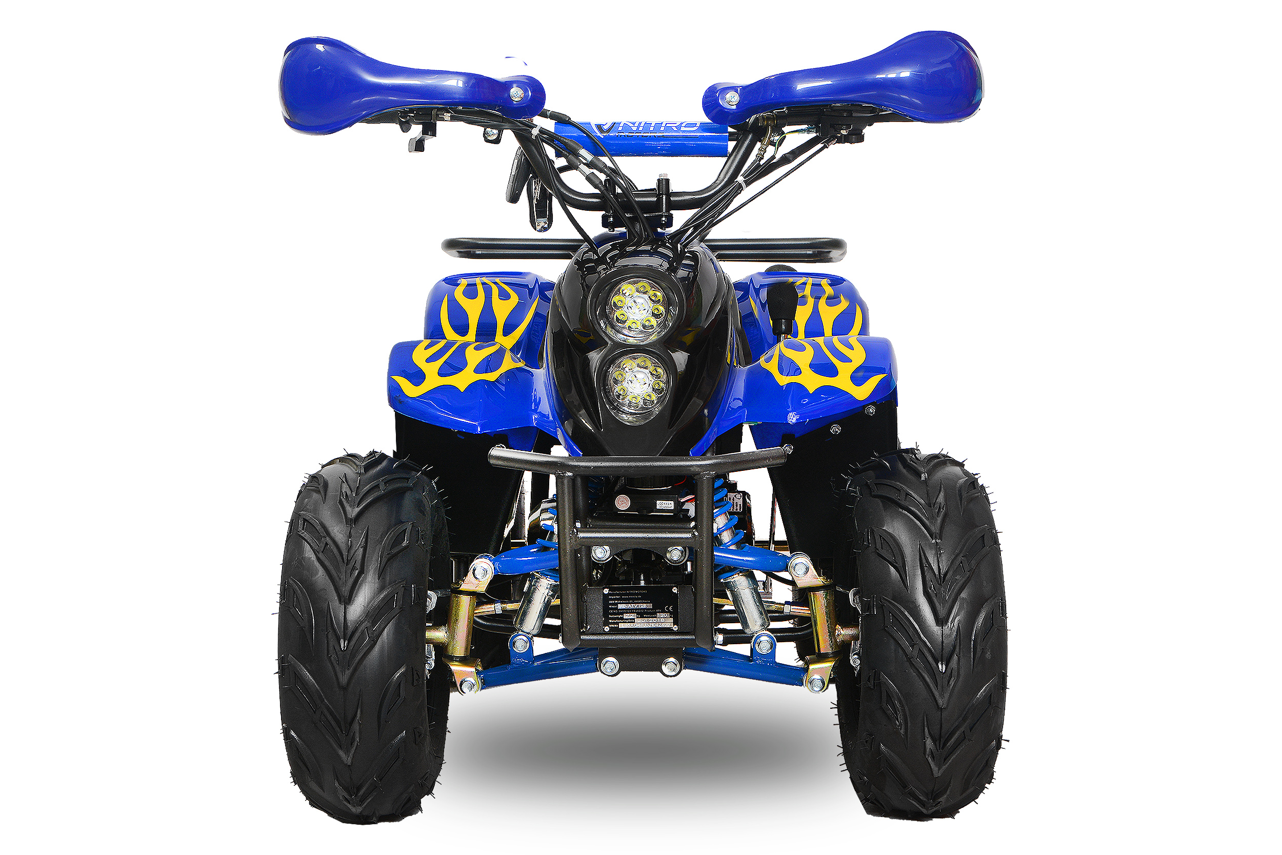 bigfoot quad 125cc 4 takt 7 zoll led motocross. Black Bedroom Furniture Sets. Home Design Ideas
