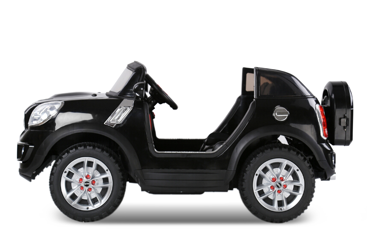 lizenz mini two seats mini comberman kinder elektroauto 2 sitzer sport in black ebay. Black Bedroom Furniture Sets. Home Design Ideas