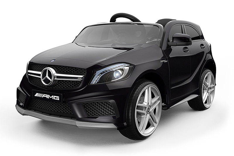 lizenz kinderauto mercedes a45 amg 2x 30w 12v 2 4g eva. Black Bedroom Furniture Sets. Home Design Ideas