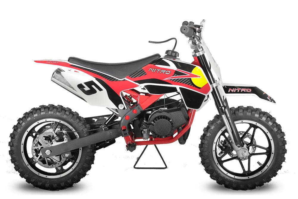 49cc dirtbike bullbike 10 10 cross enduro pocket bike ebay. Black Bedroom Furniture Sets. Home Design Ideas