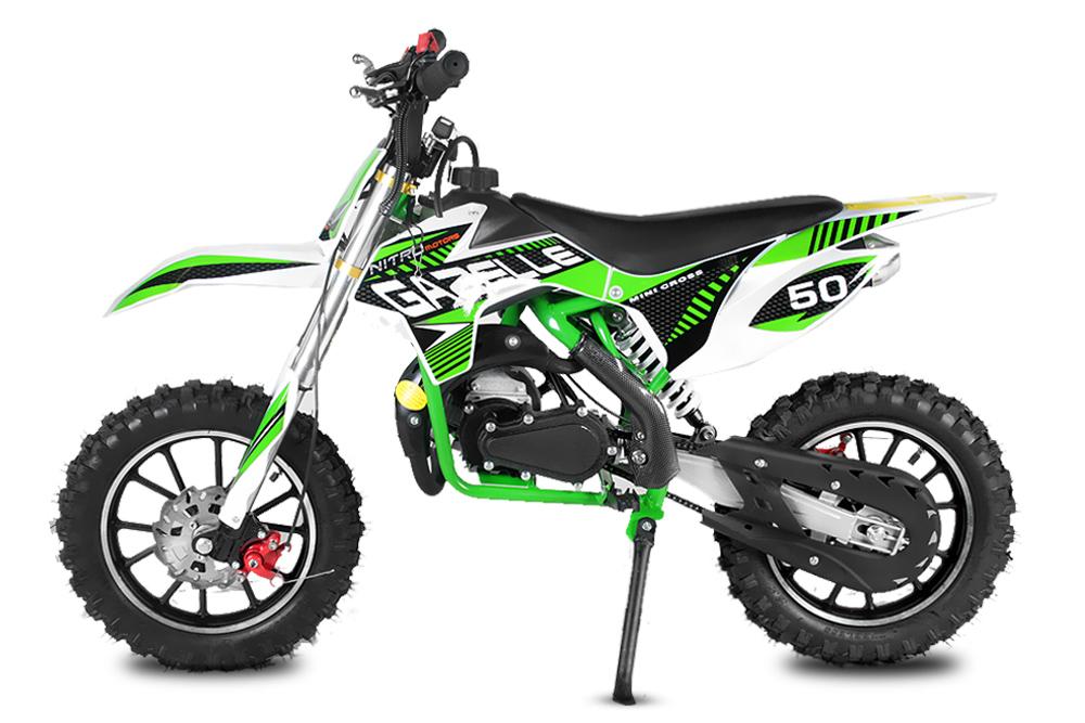 nitro gazelle 49cc 2 takt dirt bike motocross. Black Bedroom Furniture Sets. Home Design Ideas