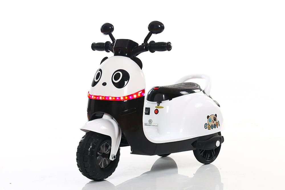 kinder elektro panda scooter dreirad 20w 6v mit musik. Black Bedroom Furniture Sets. Home Design Ideas