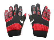 Cross Handschuhe für Erwachsene aus Nylon RED