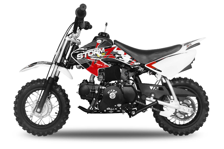 70cc dirtbike storm 10 10 automatik mit e start crossbike new sticker design. Black Bedroom Furniture Sets. Home Design Ideas