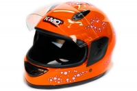 Full Face Helmet Orange | Kinderhelm | Integralhelm Fullface Motorradhelm