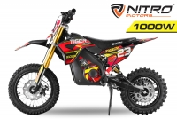 Nitro Motors 1000W Tiger Lead Acid 12/10 Dirtbike Elektro Crossbike E-Cross
