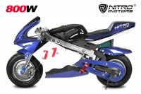 800W Eco Pocketbike Mini Cross Minibike Racing